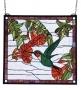 HUMMINGBIRD STAINED GLASS WINDOW