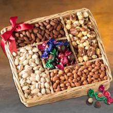 CHOCOLATE & NUT COLLECTION - KOSHER GIFT BASKET
