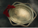 OVAL BREAD BASKET WITH SIX STARS