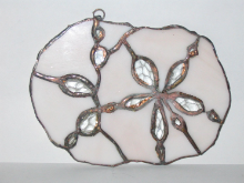 STAINED GLASS SANDDOLLAR