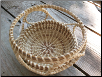 WAVY MOTIF SWEETGRASS BASKET
