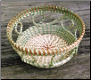 ROUND LOOPED SWEETGRASS BASKET