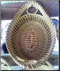 LARGE OVAL BREAD BASKET WITH ONE LOOP IN EACH HANDLE