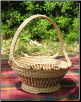 CROSSHANDLE SWEETGRASS BASKET W/ LOVE KNOTS & PEDESTAL