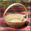 ROUND CROSSHANDLE SWEETGRASS BASKET
