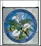 CALLA LILY STAINED GLASS WINDOW
