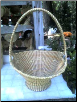 FLAIRED SWEETGRASS CROSSHANDLE BASKET