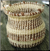 SWEETGRASS VASE WITH LOVE KNOTS