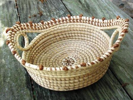 Decorative Handmade Gullah Sweetgrass Baskets Antiques Decorative Arts